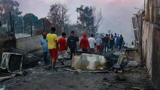 Φωτιά Μόρια: Σε κατάσταση έκτακτης ανάγκης το νησί