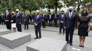ΗΠΑ: Την επέτειο της 11ης Σεπτεμβρίου τίμησαν Τραμπ-Μπάιντεν