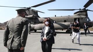 Στο Καστελόριζο η Κ. Σακελλαροπούλου: Η Τουρκία υψώνει φραγμούς ανάμεσα στους λαούς