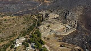 Οι Μυκήνες πριν και μετά τη φωτιά: Συγκλονιστικό βίντεο από ψηλά