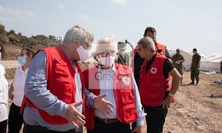 Στη Μυτιλήνη ο Ελληνικός Ερυθρός Σταυρός - Αυγερινός: «Είμαστε εδώ για να βοηθήσουμε»