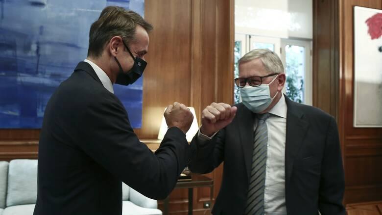 Συνάντηση Μητσοτάκη - Ρέγκλινγκ: Στο «μενού» η ελληνική οικονομία