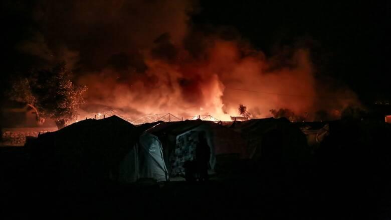 Βίντεο - ντοκουμέντο από τη φωτιά στον καταυλισμό της Μόριας