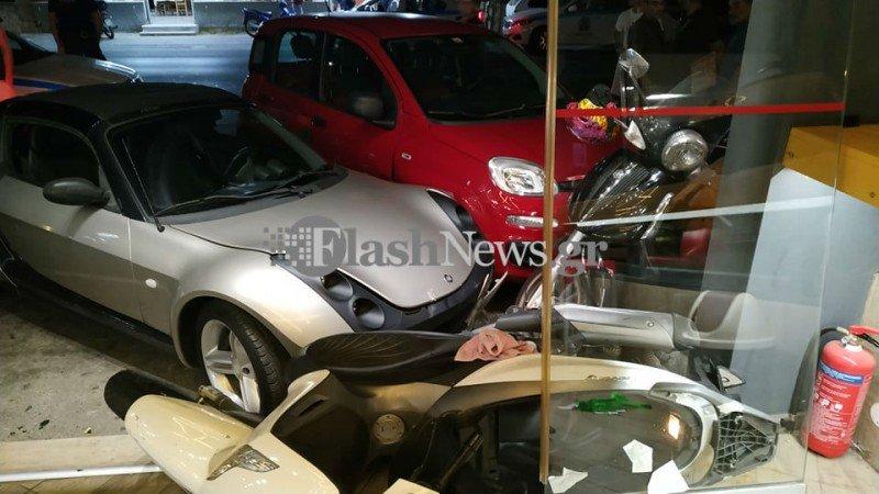 Χανιά: Εισέβαλε με το αυτοκίνητό του σε κατάστημα για να λύσει... προσωπική διαφορά