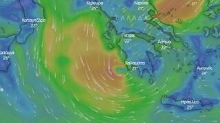 Κακοκαιρία «Ιανός»: LIVE η πορεία του μεσογειακού κυκλώνα