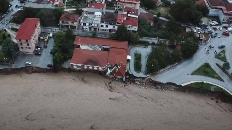 Κακοκαιρία «Ιανός»: Κατέρρευσε από τις πλημμύρες τμήμα του Κέντρου Υγείας στο Μουζάκι