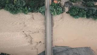 «Ιανός»: Συγκλονιστικό βίντεο από τον πλημμυρισμένο Σπερχειό από drone