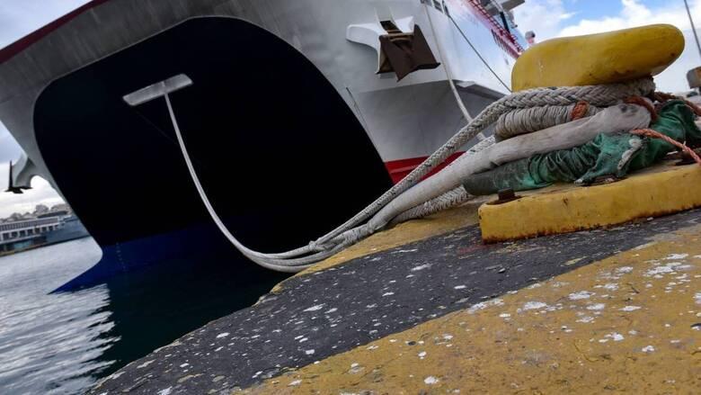Δεμένα τα πλοία στα λιμάνια της Κέρκυρας και της Ηγουμενίτσας