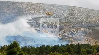 Φωτιά στο Βύρωνα: Καλύτερη η εικόνα του μετώπου - Παραμένουν ισχυρές δυνάμεις