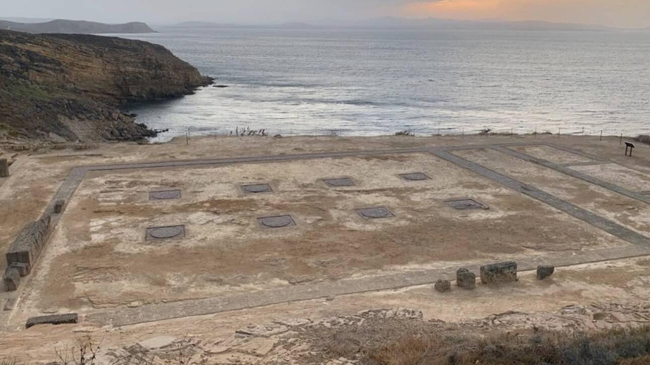 Η Λίνα Μενδώνη εγκαινίασε τον αρχαιολογικό χώρο του Καβειρίου στη Λήμνο
