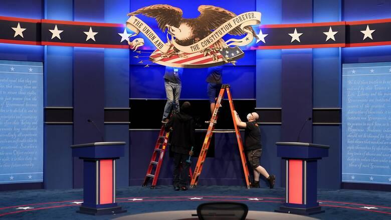 Όλα έτοιμα για το πρώτο debate Τραμπ - Μπάιντεν: Πού θα «κονταροχτυπηθούν»