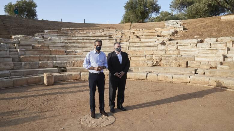Χανιά: Την Αρχαία Άπτερα επισκέφθηκαν Μητσοτάκης και Πομπέο
