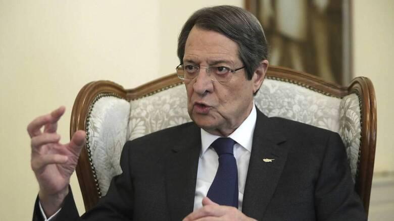 Αναστασιάδης: Η Κύπρος αναμένει στήριξη της ΕΕ για να τερματιστεί η διπλωματία των κανονιοφόρων