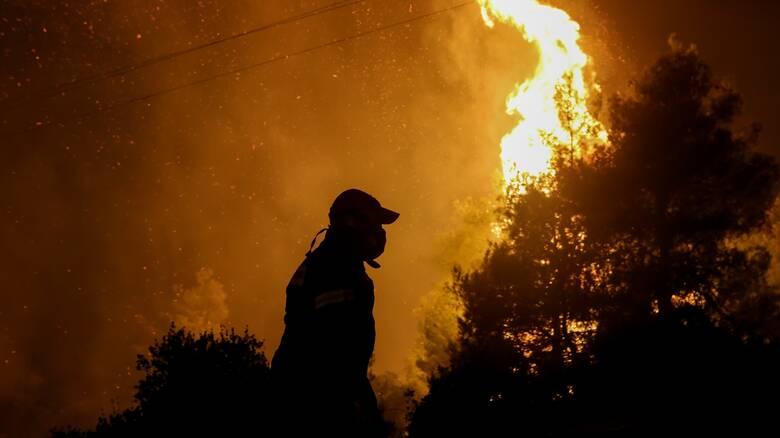 Δύσκολη νύχτα στον Έβρο: Μαίνεται η φωτιά στο δάσος της Δαδιάς