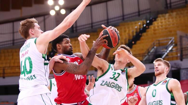 Ολυμπιακός - Ζαλγκίρις Κάουνας 67-68: Πρεμιέρα με το αριστερό