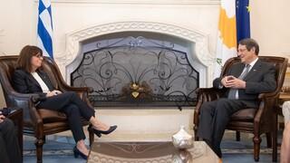 Συγχαρητήριο μήνυμα Σακελλαροπούλου σε Αναστασιάδη με αφορμή την επέτειο της Κυπριακής Ανεξαρτησίας