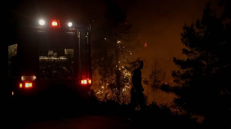 Χωρίς ενεργό μέτωπο αλλά με διάσπαρτες καύσεις η φωτιά στη Λευκίμμη Σουφλίου