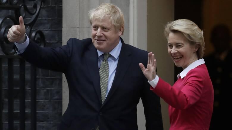 Brexit: Τζόνσον και Φον ντερ Λάιεν συμφώνησαν να εργασθούν εντατικά για εμπορική συμφωνία