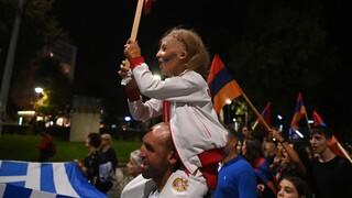Θεσσαλονίκη: Μεγάλη διαδήλωση για τη σύρραξη στο Ναγκόρνο-Καραμπάχ