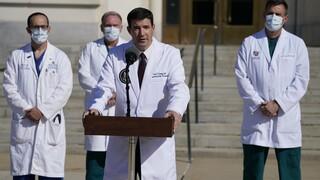Κορωνοϊός - Τραμπ: «Δεν έχει ξεφύγει τον κίνδυνο, καλή η κλινική του κατάσταση», λένε οι γιατροί