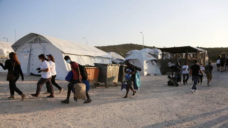 Πηγές υπουργείου Μετανάστευσης: Προβλήματα λόγω κακοκαιρίας στο ΚΥΤ Μαυροβουνίου της Μυτιλήνης