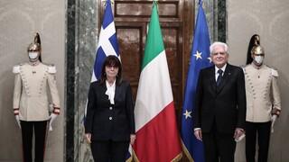Σακελλαροπούλου από Ιταλία: Η Ελλάδα επιδιώκει σταθερά τον διάλογο με την Τουρκία