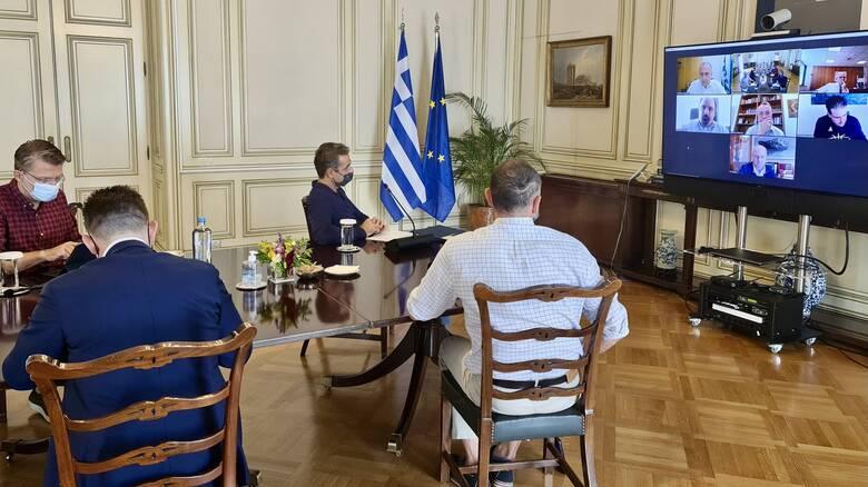 Σύσκεψη στο Μαξίμου υπό τον Μητσοτάκη για την αποκατάσταση των ζημιών στην Καρδίτσα