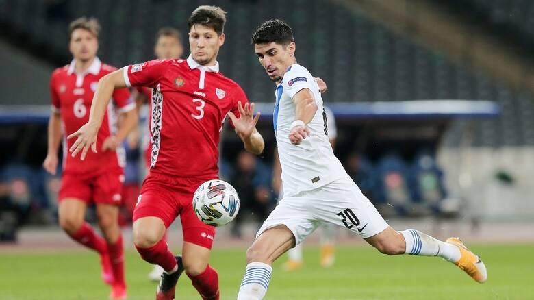 Ελλάδα - Μολδαβία 2-0: Στην κορυφή με Μπακασέτα, Μάνταλο