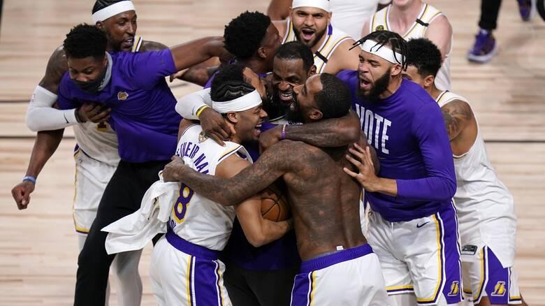 NBA: Ξανά πρωταθλητές οι Λέικερς! Αφιέρωσαν τη νίκη στον Κόμπι Μπράιαντ