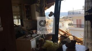 Κακοκαιρία - Νέο Ηράκλειο: Αυτό είναι το σπίτι της 69χρονης που τραυματίστηκε σοβαρά