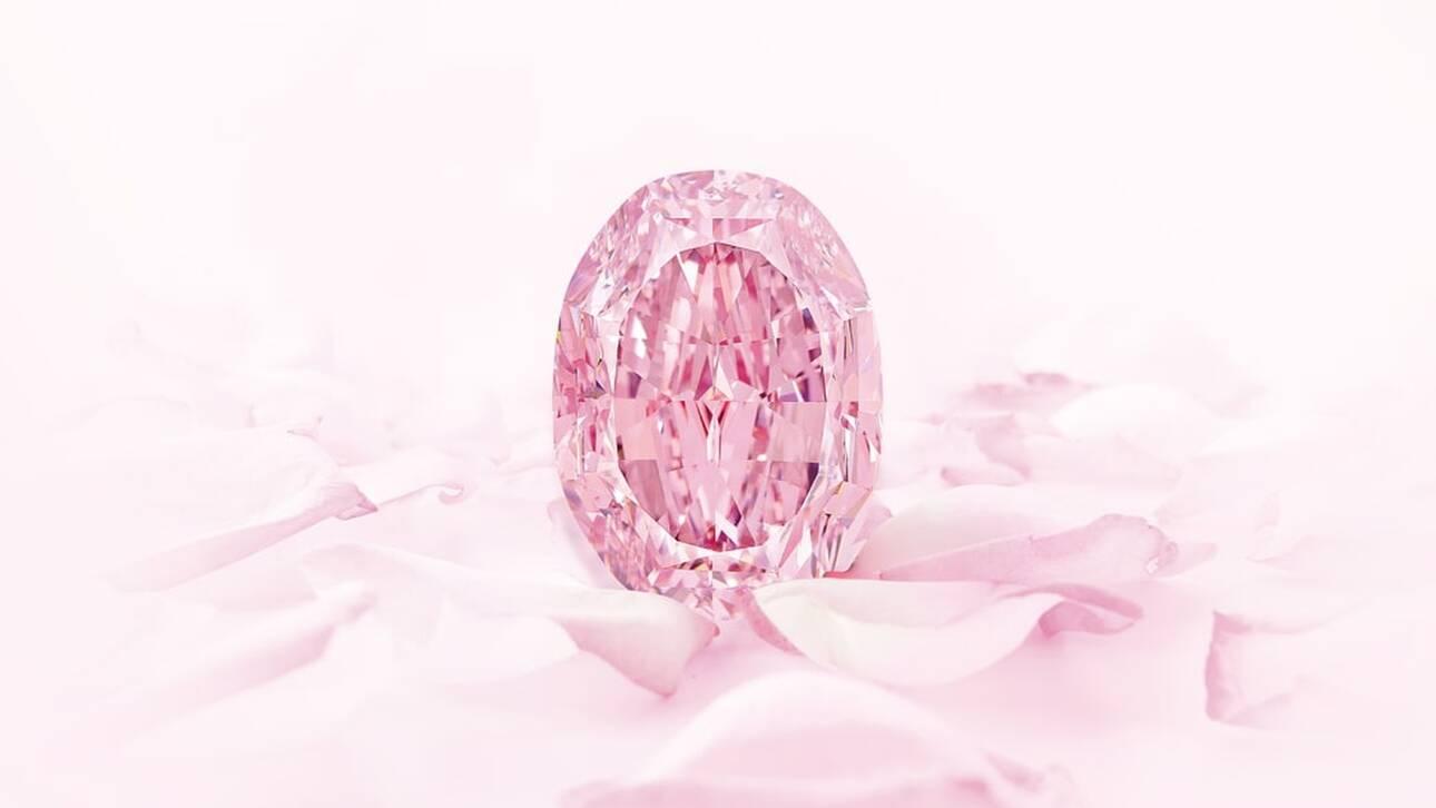 The Spirit of the Rose: Σε δημοπρασία ένα εξαιρετικά σπάνιο ροζ διαμάντι