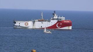 Oruc Reis: Κλειστό το σύστημα γεωγραφικού προσδιορισμού του τουρκικού ερευνητικού