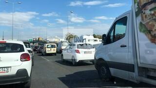 Κυκλοφοριακά προβλήματα στην Αθηνών - Λαμίας