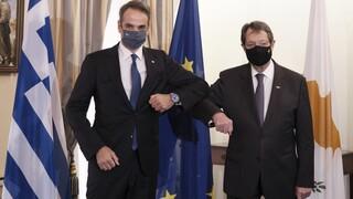 Μητσοτάκης-Αναστασιάδης: Στην Ευρώπη υπάρχει αντίληψη για το ποιος είναι ο ταραχοποιός