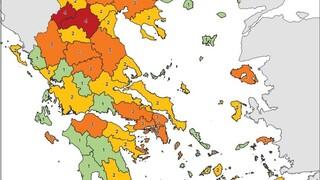 Μάσκες παντού και νυχτερινό lockdown σε 19 περιοχές - Όλες οι αλλαγές στον χάρτη του κορωνοϊού