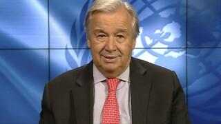 75η επέτειος ΟΗΕ - Γκουτέρες: Ζητώ από όλους τους ανθρώπους παντού να γίνουν ένα
