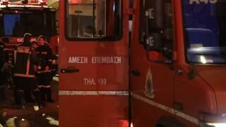 Φωτιά σε κτήρια στον Κολωνό