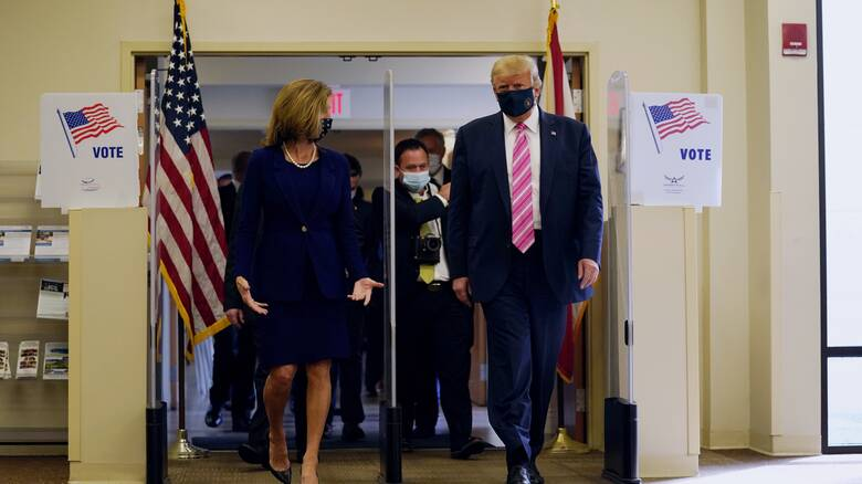 Εκλογές ΗΠΑ: Ο Τραμπ άσκησε το εκλογικό του δικαίωμα - «Ήταν μια πολύ ασφαλής ψήφος»