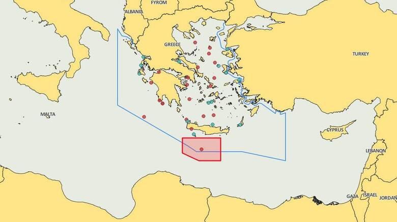 Navtex για επιστημονικές έρευνες νότια της Κρήτης