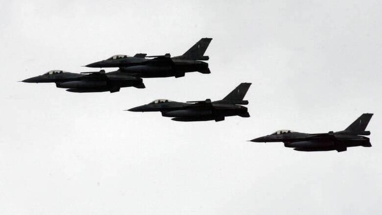 Πτήσεις τουρκικών F-16 πάνω από τους Ανθρωποφάγους