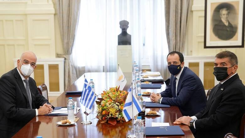 Μήνυμα Ελλάδας - Κύπρου - Ισραήλ στην Τουρκία: Έτοιμοι για κοινές απαντήσεις στις προκλήσεις