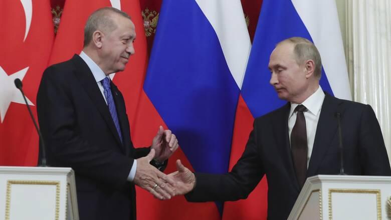 Συλλυπητήρια Πούτιν σε Ερντογάν για τα θύματα του σεισμού