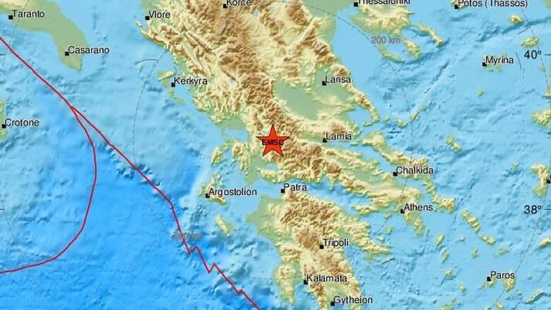 Σεισμός κοντά στο Καρπενήσι - Αισθητός σε αρκετές περιοχές