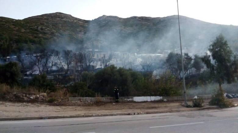 Φωτιά στον προσφυγικό καταυλισμό της Σάμου