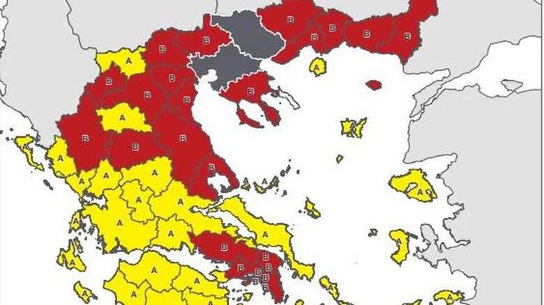 Κορωνοϊός: Νέος Χάρτης Υγειονομικής Ασφάλειας - Σε ποιο επίπεδο κινδύνου βρίσκεται κάθε περιοχή