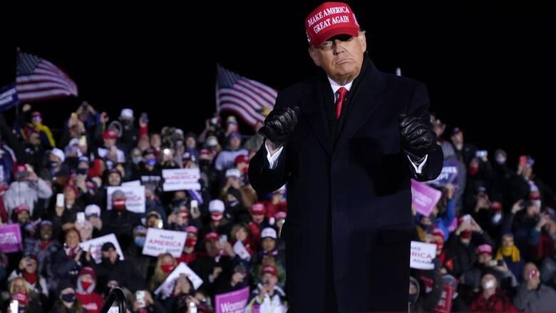 Εκλογές ΗΠΑ - Τραμπ: Θα κηρύξω νίκη μόνο όταν υπάρξει νίκη