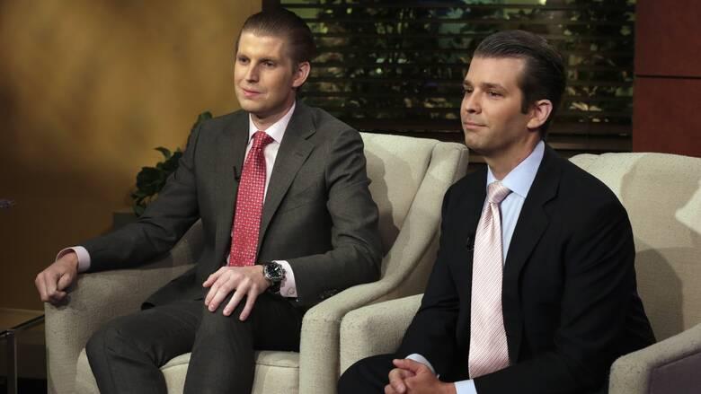 Εκλογές ΗΠΑ: Για «χλιαρή» αντίδραση κατηγορούν τους ρεπουμπλικανούς οι δύο γιοι του Τραμπ