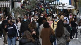 Lockdown: «Πλημμύρισε» από κόσμο η Ερμού – Στο «κόκκινο» οι δρόμοι της Αθήνας