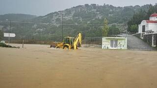 Ηράκλειο: Δρόμοι «ποτάμια» και καταστροφή καλλιεργειών σε Λασίθι και Καστέλι