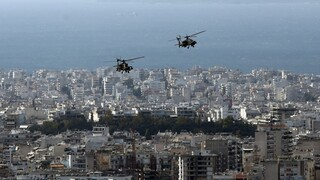 Μαχητικά αεροσκάφη πάνω από την Αθήνα για τη γιορτή του Προστάτη της Πολεμικής Αεροπορίας